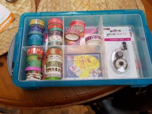 Planner supplies including washi tape