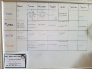 Our new PDA sympathetic weekly planner