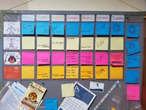 Our weekly wall planner