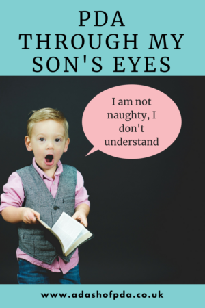 PDA through my son's eyes: adashofpda.co.uk - I am not naughty, I don't understand. I'd like to take you on a journey, a journey of discovery to show you a day in the life of PDA through my son's eyes.