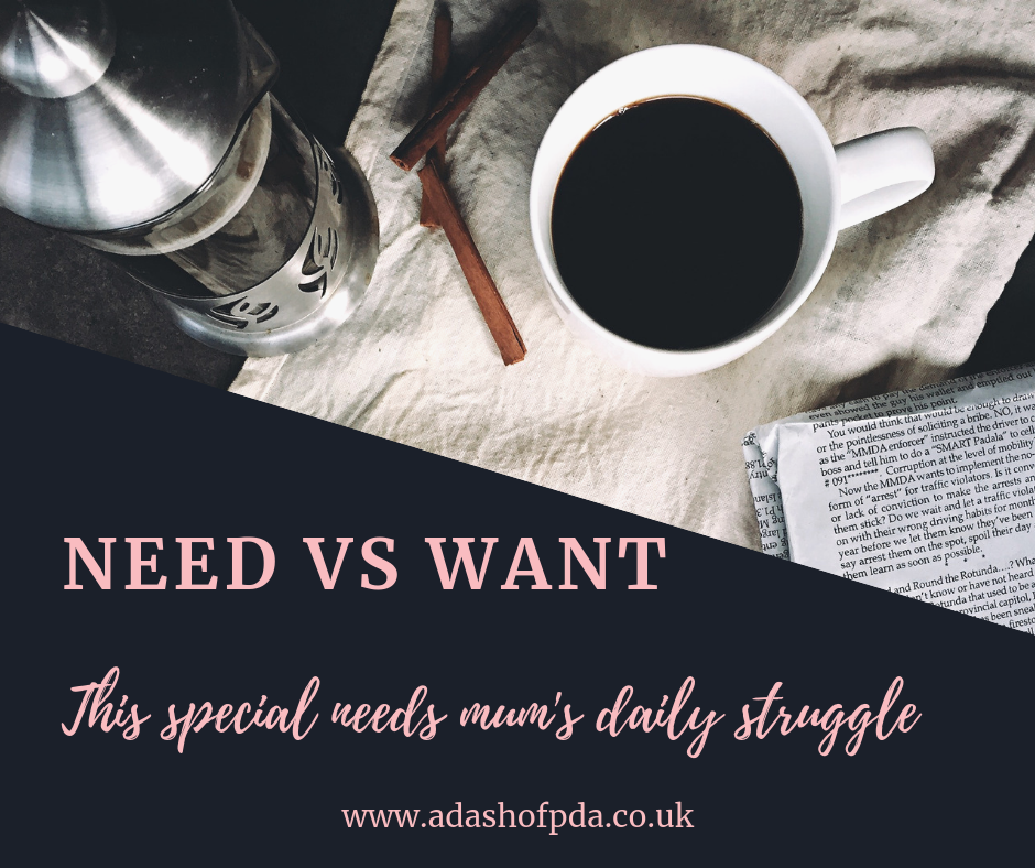 Want vs Need – Reality of Special Needs